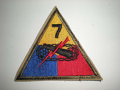 US ARMY 7TH ARMORED DIVISION PATCH  - ORIGINAL WWII ERA