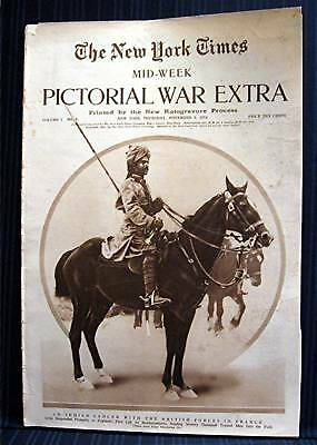 1914 NY Times 11-05 Mid Week War Pictorial WWI Magazine