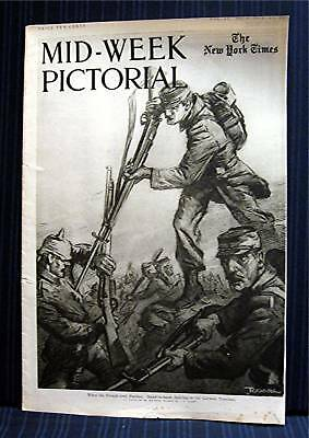 1915 NY Times 10-14 Mid Week War Pictorial WWI Magazine