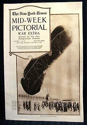 1915 NY Times 01-14 Mid Week War Pictorial WWI Magazine