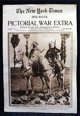 1914 NY Times 10-22 Mid Week War Pictorial WWI Magazine