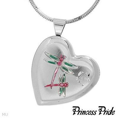 PRINCESS PRIDE Butterfly heart  Necklace Made in 925 Sterling Silver