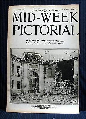 1916 NY Times 05-04 Mid Week War Pictorial WWI Magazine