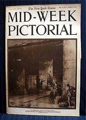 1916 NY Times 03-23 Mid Week War Pictorial WWI Magazine