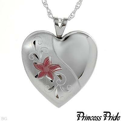 PRINCESS PRIDE Brand New  Heart Necklace Made in 925 Sterling Silver