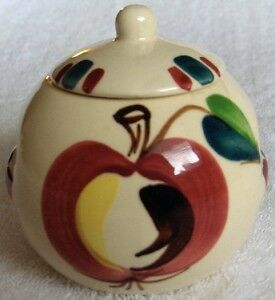 Purinton Pottery Apple slipware Ind covered bean pot-NR