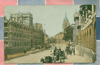 Old Postcard 1909 Oxford College Oxford England