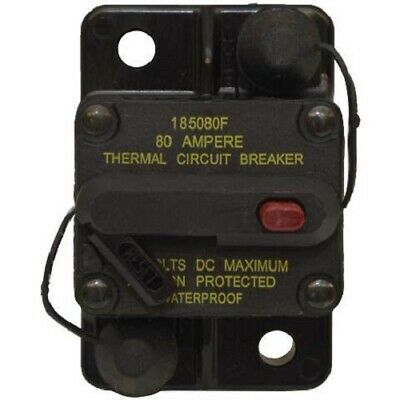 Bussman DC Circuit Breaker 80 Amp Surface Mt. 185080F
