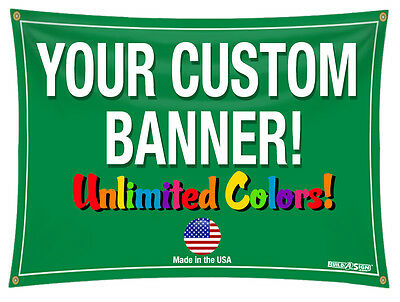 2x30 Full Color Custom Banner 13oz Vinyl DOUBLE SIDED