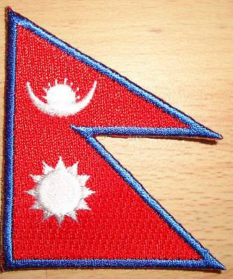 NEPAL Nepalese Country Flag Embroidered PATCH Badge *NEW*