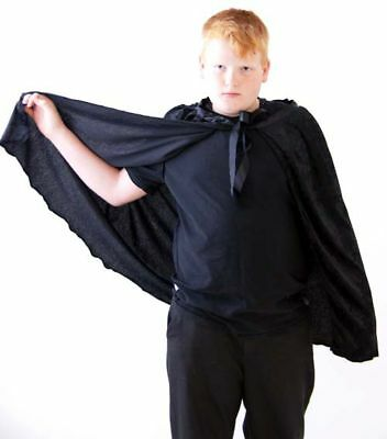 HALLOWEEN/WIZARDS/VAMPIRE Short Black Cape Great Fancy Dress Accessory