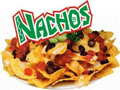 """Concession Decal 10"""" Nachos Restaurant Food Catering"""