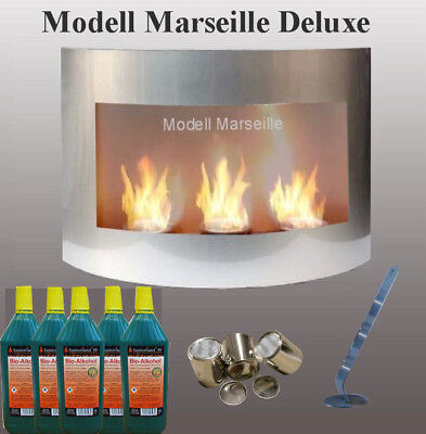 Bio Ethanol Cheminee Marseille Deluxe Argent Fireplace