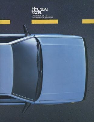 1985 Hyundai Excel Dealer Sales Brochure Book