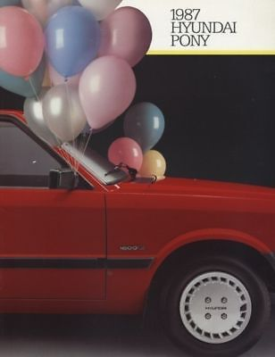 1987 Hyundai Pony Dealer Sales Brochure Book
