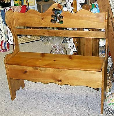 Custom Deacon Bench/Church Pew - choose stain, cut-out!