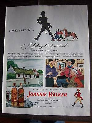 1948 JOHNNIE WALKER Black Label Scotch Whisky Ad