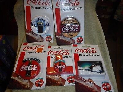 Five Always Coca-Cola Magnets Each Different   New In Package