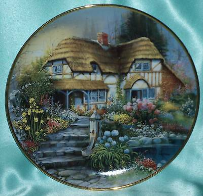 ~ Vintage ~ Signed Country Retreat Cottage Franklin Mint Plate ~ Collectable ~