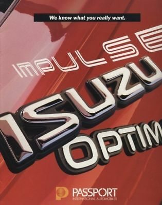 1990 Isuzu Impulse Passport Optima 16-page Original Car Sales Brochure Catalog