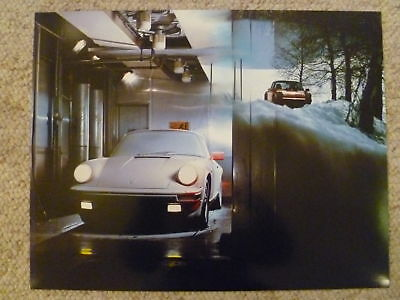 1987 Porsche 911 Coupe Showroom Advertising Poster RARE!! Awesome L@@K