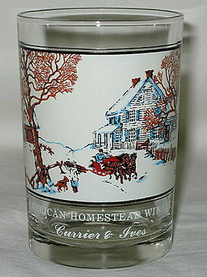 Arby's Currier & Ives American Homestead Winter 12-oz Glass