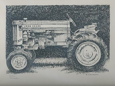 John Deere 320 Tractor Limited Edition Signed Print #'d 68/500