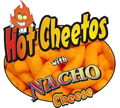 "Concession Sign Decal 12"" Cheetos with Nacho Cheese"