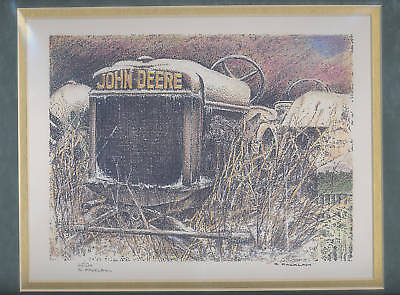 John Deere Print GP Snow Tractor Print Limited Edition #'d of 125/500