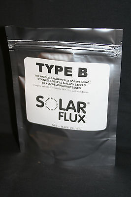 SOLAR FLUX TYPE B For Stainless Steel Welding, TIG MIG SMAW, FREE SHIPPING 6 oz.