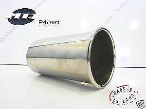 4 inch Sports Round Rolled Out 100mm Exhaust Tailpipe Trim Tip Stainless Steel