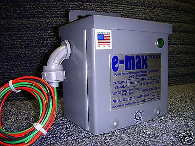 Energy Saving E Max 3000 KVAR - UL Listed & Tested! Free Shipping in USA