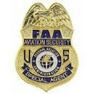 FAA AVIATION SECURITY SPECIAL AGENT POLICE BADGE PIN