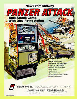 Panzer Attack, Early Midway Arcade Flyer