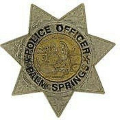 PALM SPRINGS CALIFORNIA POLICE OFFICER BADGE LAPEL  PIN