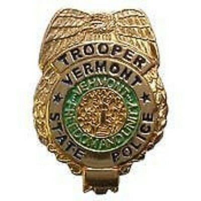 VERMONT STATE POLICE TROOPER OFFICER LAPEL BADGE PIN