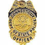 CONNECTICUT STATE POLICE OFFICER BADGE LAPEL PIN