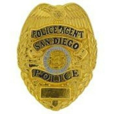 SAN DIEGO POLICE  AGENT OFFICER LAPEL BADGE PIN