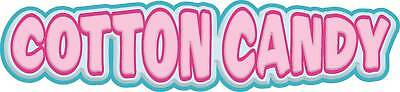 "Cotton Candy Concession Decal 14"" Food Vinyl Letters"