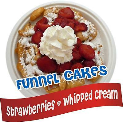 "Funnel Cakes Concession Decal 14"" Strawberries Menu"