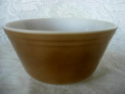 Vintage FEDERAL GLASS Brown Oven Ware Bowl