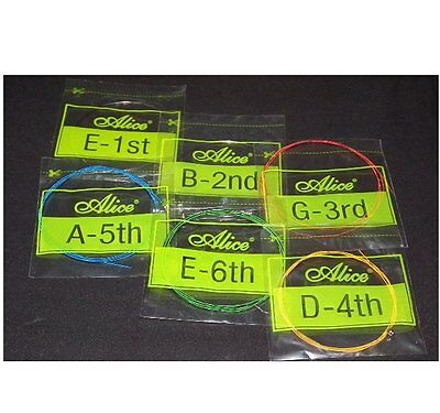 Set Rainbow Colorful Color String for Acoustic Guitar - UK seller