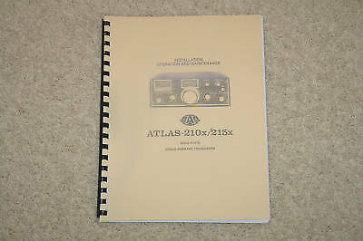Atlas 210x / 215x  XCVR  Manual, heavy cover Ring Bound