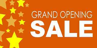 Grand Opening Sale Business Banners i 3x6