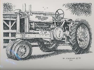John Deere GP A Tractor Limited Edition Print #'d 1/500...Print #1