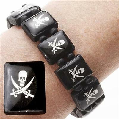 10 Pirate Wrist Bands Childrens Party Bag Filler Toys