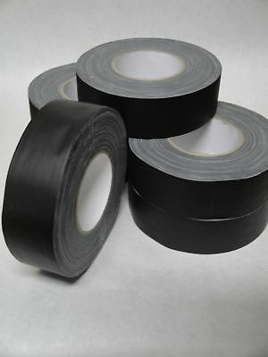 6 Rolls - Gaffers Stage Tape - Black - 2 Inch X 60 Yard