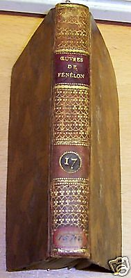 RARE 1810 antique BOOK * oeuvre FÉNÉLON tome 17 Fenelon