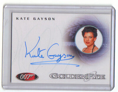James Bond Kate Gayson As Casino Girl Auto Card A87 Nm