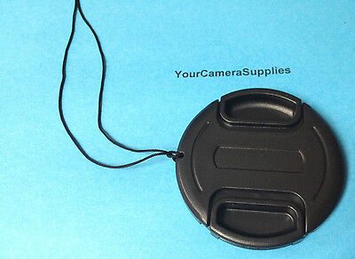 FRONT SNAP ON LENS CAP 72mm + HOLDER TO Camera  Camcorder Video
